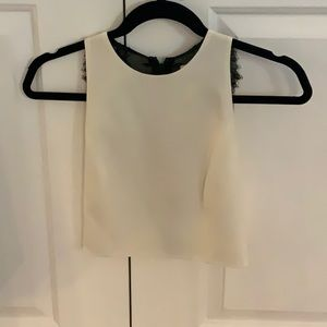 Alice + olivia crop top with lace back